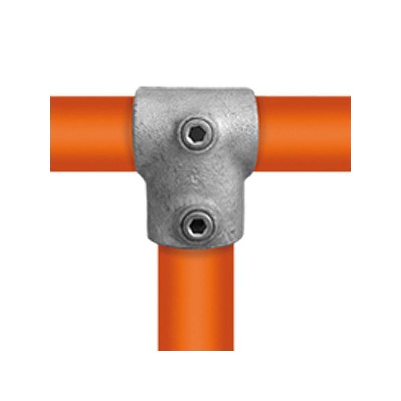 Buiskoppeling VERLOOP Kort T-stuk 42,4 - 33,7 Multiklemp