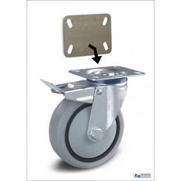 Monteren van Lasschetsplaat voor zwenkwielen