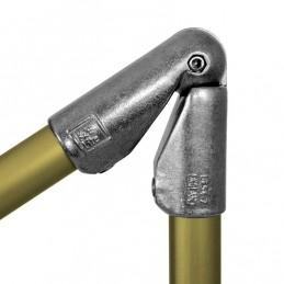 Aluminium buiskoppeling Variabele Elleboogkoppeling 45-200 graden merk Kee Lite