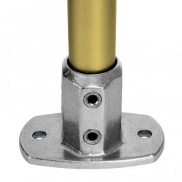 Aluminium buiskoppeling Ovale Voetplaat merk Kee Lite