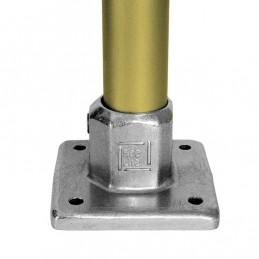 Aluminium buiskoppeling Vierkante Voetplaat merk Kee Lite