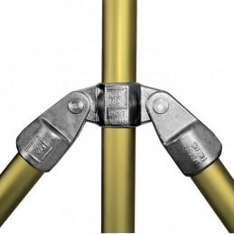 Aluminium buiskoppeling Dubbel Scharnierstuk merk Kee Lite