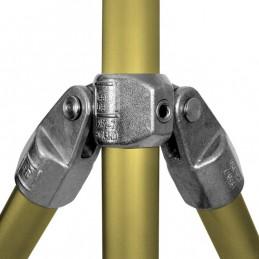 Aluminium buiskoppeling Dubbel Scharnierstuk 90 graden merk Kee Lite