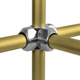 Aluminium buiskoppeling T-stuk met zij-uitgang merk Kee Lite