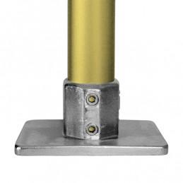 Aluminium buiskoppeling extra zware rechthoekige Voetplaat merk Kee Lite