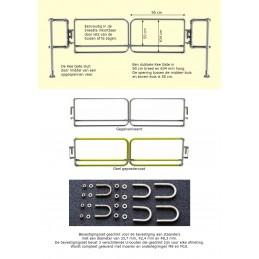 Veiligheidspoort dubbel (onderdelen)