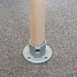 Buiskoppeling met houten buis