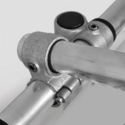 Schijnwerper LED aan een spandoek frame bevestigd