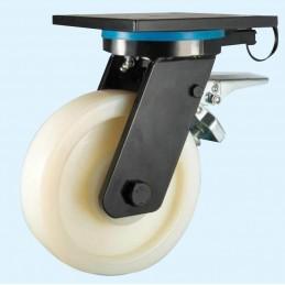 Nylon zwaarlast zwenkwiel met richtingvastzetter tot 1300 kg