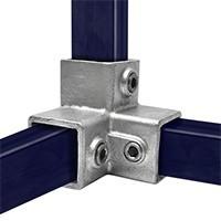 Vierkante buiskoppeling voor 40 mm buizen