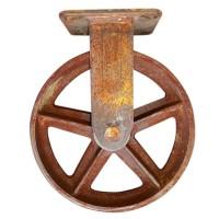 Vintage Retro wiel is een robuust wiel van onbehandeld staal met een mooie industriële look.