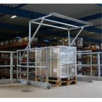 Palletpoort voor veilig werken op verhoogd werkoppervlak